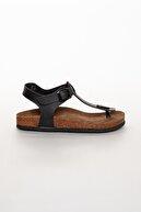 meyra'nın ayakkabıları Kadın Siyah Klasik Sandalet