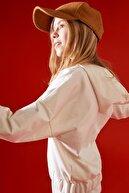 Defacto Kız Çocuk Yazı Baskılı Kapüşonlu Sweatshirt