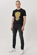Wrangler Erkek Koyu Gri Skinny Düşük Bel Çok Dar Paça Esnek Jean Pantolon