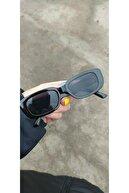Makro Optik Unisex Siyah Kare Dikdörtgen Vintage-retro Güneş Gözlüğü