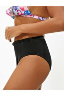 Koton Kadın Siyah Yüksek Bel Kemer Detaylı Bikini Altı