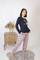 Bellis Kadın Lacivert Yıldız Desenli Pijama Takımı