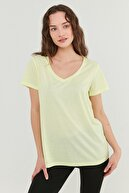 Penti Kadın Sarı V Neck T-Shirt