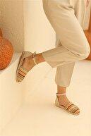 Cömert Ayakkabı Buster Kadın Babet Hasır Renkli