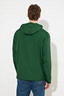 TRENDYOL MAN Yeşil Erkek Yarım Fermuar Detaylı Yeni Mont TMNSS20MO0003
