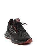 Bambi Siyah Kırmızı Erkek Sneaker E01529409482