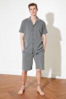 TRENDYOL MAN Antrasit Örme Pijama Takımı THMSS21PT0446