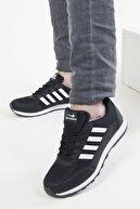 Astarza Unisex Siyah Beyaz Spor Ayakkabı