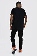 XHAN Siyah Baskılı T-shirt 1kxe1-44795-02