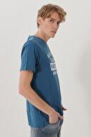 Lee Erkek Mavi Regular Fit Bisiklet Yaka T-Shirt