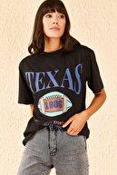 Bianco Lucci Kadın Texas Baskılı Tshirt