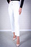 Essah Moda Kadın Beyaz Lastikli Havuç Pantolon - Me000311