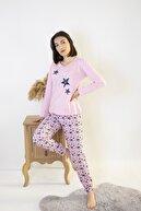 Bellis Kadın Pudra Yıldız Desenli Pijama Takımı
