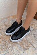 ANGELİNA JONES Angelo Kadın Siyah Gercek Deri Eva Tabanli Sneakers