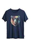 Bad Bear Erkek Çivit Mavi Tişört Polygon Bear Tee