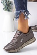 Lal Shoes & Bags Kadın Gri Percy  Spor Ayakkabı