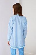 Trendyol Modest Açık Mavi Fermuar Detaylı Tesettür Ceket TCTSS21CE0410