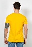 Sateen Erkek Yazı Baskı Sarı Tshirt 9YTS385E152 9YTS385E152