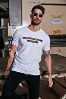 Sateen Men Erkek Beyaz Yazı Baskılı T-Shirt