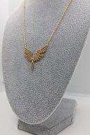 AB Shop Kadın Altın Melek Zirkon Taşlı Çelik Kolye
