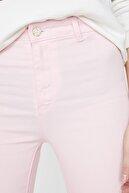 Koton Kadın Pembe Dar Paça Pantolon 9YAL41999MW