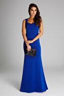 Laranor Kadın Saks Yaka Detaylı Abiye Elbise 14L4113-L