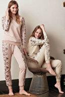 Feyza Pijama Kadın Bej 2'Li Pijama Takımı