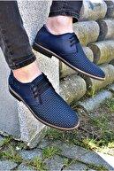 ALBİDÜNYA Erkek Lacivert Ortopedik Tabanlı Günlük Ayakkabı