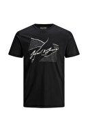 Jack & Jones JORRON TEE SS CREW NECK B Siyah Erkek T-Shirt 101069324