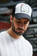 Sateen Men Erkek Beyaz Nakışlı Şapka