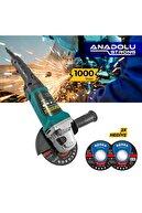 Anadolu Strong Dm803 Devir Ayarlı Spral Taşlama Makinası Avuç Içi Taşlama 115 Mm 2 Adet Disk Hediye