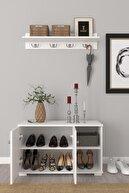 Remaks Royal Vestiyer Ayakkabılık Portmanto Ve Duvar Askısı - Beyaz / Beyaz