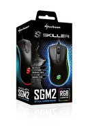 SHARKOON SGM2 RGB Ledli Kablolu Gaming Mouse SKILLER-SGM2