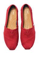 Toms Kadın Casual Ayakkabı -Red Canvas Wm Clsc Alprg Nl