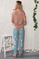 Sevim Kadın Karamel Pantolon Takım 20211