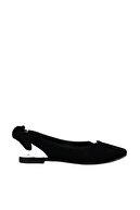 Fox Shoes Siyah Kadın Babet D726495302