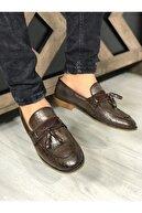 Zegeshoes Erkek Kahverengi Yazlık Günlük Ayakkabı