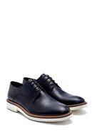 Derimod Erkek Lacivert Deri Loafer Ayakkabı