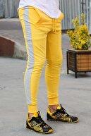 Madmext Erkek Sarı Yandan Şeritli Sarı Eşofman 2926
