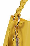 Beverly Hills Polo Club Kadın Şerit Desenli Örgü Detaylı Çanta Sarı