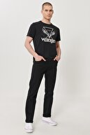 Wrangler Erkek Siyah Arizona Straight Fit Normal Bel 5 Cep Esnek Pantolon