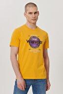 Wrangler Erkek Hardal Regular Fit Bisiklet Yaka T-Shirt