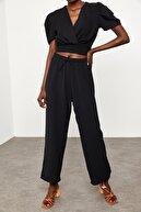 Xena Kadın Siyah Salaş Keten Pantolon 1KZK5-11605-02