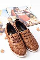Lal Shoes & Bags Kadın Kahverengi Areca Parlak Ayakkabı