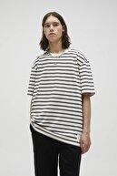Pull & Bear Basic Kontrast Çizgili T-shirt
