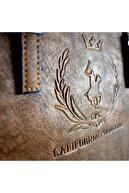 California Polo Club Kadın Taba Carlotta Omuz Askılı Kol Çantası