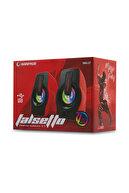 Rampage RMS-G7 FALSETTO 2.0 6 Watt 50Hz-20KHz Kırmızı Multimedia 5V USB Speaker