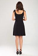 Laranor Kadın Siyah Omuzdan Bağlamalı Elbise 18L6358