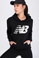 New Balance Kadın Sweatshirt - V-WTH804-BK