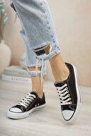 Riccon Unisex Siyah Beyaz Sneaker 0012101